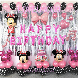 Minnie Mouse Birthday Party Decorations Minnie Mouse Party Supplies Balloons $21.99