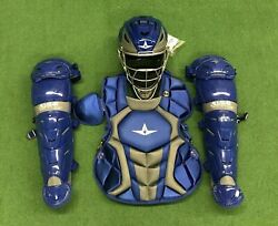 All Star System 7 Axis Youth 10-12 Catchers Gear Set - Royal Blue $319.95