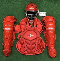 All Star System 7 Axis Youth 10-12 Catchers Gear Set - Solid Red $349.95