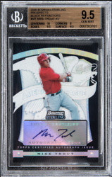 MIKE TROUT 2009 Bowman Sterling BLACK Refractor ROOKIE RC SP AUTO  25 BGS 9.5