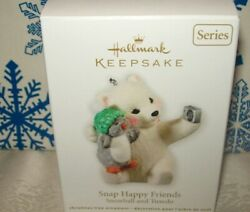 HALLMARK SNAP HAPPY FRIENDS #11 SNOWBALL AND TUXEDO SERIES 2011 ORNAMENTS
