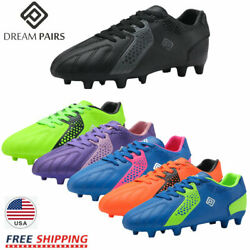 DREAM PAIRS Girls Boys Soccer Shoes Athletic Cleats Low Top Kids Football Shoes $22.87