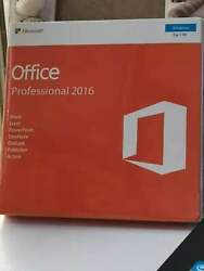 Microsoft Office 2016 Professional Windows English PC Key Card AND DVD