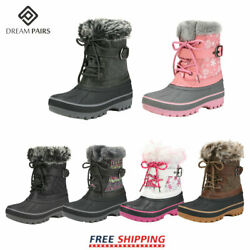 DREAM PAIRS Kids Boys Girls Winter Snow Boots Ankle Waterproof Warm Ski Boots $26.39