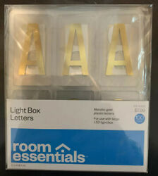 Room Essentials Color Changing LED Light Box Holiday Gold Letter Pack of 100 new