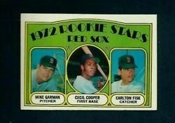 1972 TOPPS ROOKIE STARS #79 CARLTON FISK  CECIL COOPER RED SOX EX-MT OR BETTER