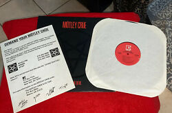 MOTLEY CRUE Shout at the Devil 1983 LP w RARE RadioMTV Hype Never Been Played