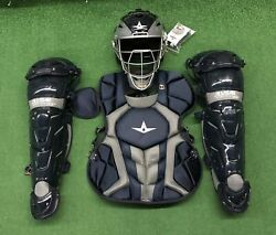 All Star System 7 Axis Youth 10-12 Catchers Gear Set - Navy Blue $319.95
