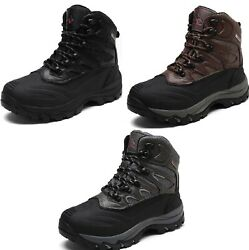Men#x27;s New Winter Warm Outdoor Waterproof Hiking Ankle Snow Boots Size 6.5 15 $38.69