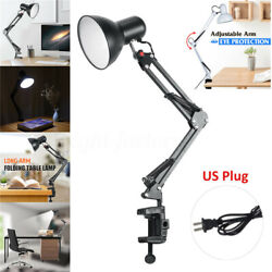 Swing Arm Desk lamp Architect Drafting Table Clamp On LED Light Adjustable Arms