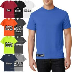 Mens Tall T Shirt 50 50 Cotton Poly Tee LT XLT 2XLT 3XLT 4XLT NEW $12.85