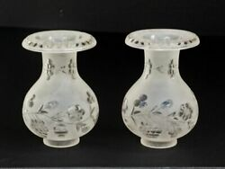 Pair of Custom Made Argand Glass Shades Best Reproduction $300.00