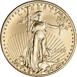 2020 American Gold Eagle 1 2 oz $25 BU $1034.04
