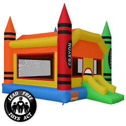 Crayon Theme Bounce House Jumper Castle Bouncer Inflatable with Blower $489.99