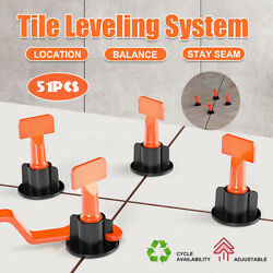 51x Flat Ceramic Floor Wall Construction Tools Reusable Tile Leveling System Kit