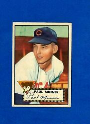 1952 TOPPS BASEBALL #127 PAUL MINER EXEXMT CHICAGO CUBS NO CREASE LOW NUMBER