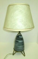 Vintage Mid-Century Modern Table Lamp Base and Shade