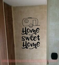 Camper Home Sweet Home Camping Quote Vinyl Decor Art Sticker RV Wall Word Decals $17.32