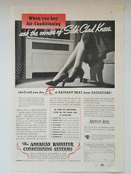 1937 American Radiator Conditioning Systems Radiant Heat Vtg Magazine Print Ad $14.99