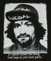 CHARLES MANSON T-shirt 100% Cotton Mens Adult Tee New $14.99