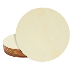 10 Pack Unfinished Wood Circle Round Wooden Cutout for DIY Craft Supplies $12.99
