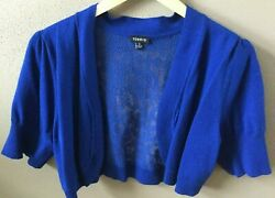 TORRID half sweater top women size 0 blue lacenew without tags Plus Torrid $14.49