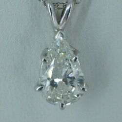 Beautiful White Gold 1.75ct Diamond Pendant