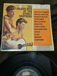 The Everly Brothers The Golden Hits Of The Everly Brothers Lp Vinyl 1962 US G+ $5.99