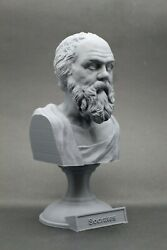 Socrates 5 inch 3D Printed Bust Famous Greek Philosopher FREE SHIPPING