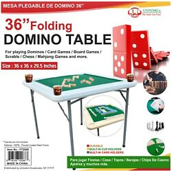 Folding Domino Games Table And For Other Table Games With 4 Cups Drink Holder $114.99