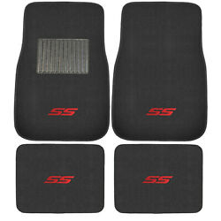 4PC Racing Red SS Car Truck Front Rear All Weather Carpet Floor Mats Fit CHEVY $29.98