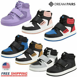 DREAM PAIRS Kids Boys Girls High Top Sneaker Youth Fashion Basketball Shoes $24.63