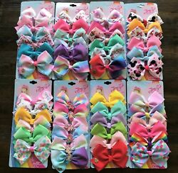 18Pcs 5IN 8IN Jojo Bows Alligator Clips Ribbon Hair Bows Girls Hair Accessories $16.99