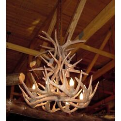 REPRODUCTION ANTLER WHITETAIL CASCADE CHANDELIER RS-2-L RUSTIC DEER LIGHT