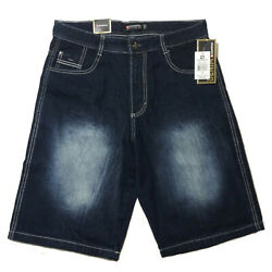 SOUTHPOLE MEN'S CORE DENIM SHORT STYLE NO 9001-3236 DARK SAND BLUE $26.99