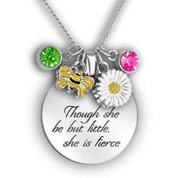 """16"""" Necklace """"Though she be but little she is fierce"""" Daughter Necklace"""