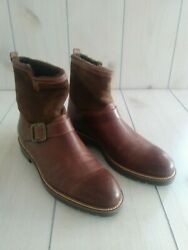 ROSS amp; SNOW Men's Brown Federico Leather Boots size 10 $140.00