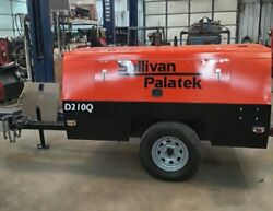 Sullivan - Palatek D210Q Towable Air Compressor ONLY 1350 Original Hours