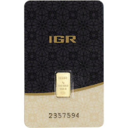 1 gram IGR Gold Bar - Istanbul Gold Refinery - 999.9 Fine in Sealed Assay