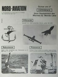 1969 PUB NORD AVIATION MISSILE TARGET DRONE SYSTEMS MARINE ORIGINAL FRENCH AD EUR 10.00