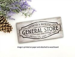 General Store farmhouse sign rustic home decor family sign PRINT pj $14.99