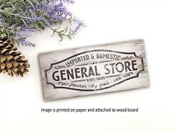 General Store farmhouse sign wood rustic home decor family sign PRINT pj $15.99