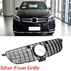 Silver Front Grille Mesh For Benz W166 W292 GLE350 GLE400 GLE43 GLE63AMG 15 19 $227.99