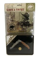 Fred Bear Archery *Commemorative* Knife and Tin Set With Traditional Medallion $25.99