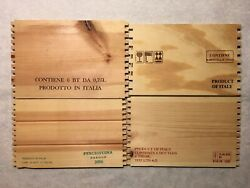 4 Product Of Italy 🇮🇹 WOOD WINE PANELS Crate Box Side 320 $20.00