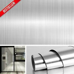 Stainless Steel Silver Contact Paper Vinyl Self Adhesive Film Kitchen Countertop $12.99