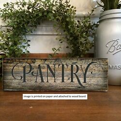 Pantry Wood Sign Rustic Farmhouse Style Shelf Sitter Rustic Decor 8x3quot; c $14.99