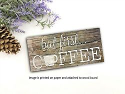 Coffee Bar Sign Farmhouse PANTRY sign kitchen rustic home decor 8x3x1 8quot; $14.99