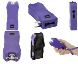 Police Stun Gun Maximum Power Rechargeable With Bright Flashlight LED HIGH RATED $16.99