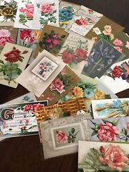Lot of 30 Vintage Early 1900's Postcards Antique In Sleeves Free Shipping $22.95